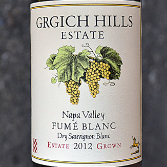 Grgich Hills Estate 2012 Napa Valley Fume Blanc 750ml Wine Label