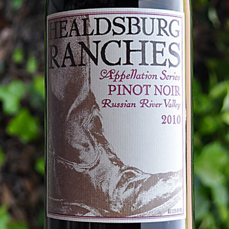 Healdsburg Ranches 2010 Russian River Valley Appellation Series Pinot Noir 750ml Wine Label
