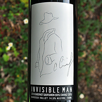Cimicky & Son Winemakers 2010 Invisible Man Barossa Valley Cabernet/Shiraz Blend 750ml Wine Label