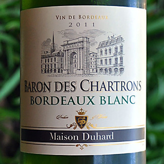 Maison Duhard 2011 Baron Des Chatrons Bordeaux Blanc 750ml Wine Label