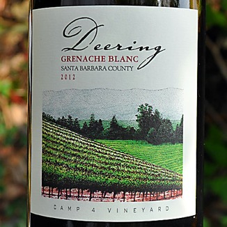 Deering Wine 2012 Santa Barbara County Grenache Blanc 750ml Wine Label