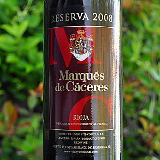 Marques de Caceres 2008 Rioja Reserva 750ml Wine Label