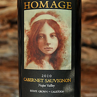 Homage Vineyard 2010 Napa Valley Cabernet Sauvignon 750ml Wine Label