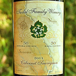 Tudal Family Winery 2011 50/50 Sonoma / Napa Cabernet Sauvignon 750ml Wine Label
