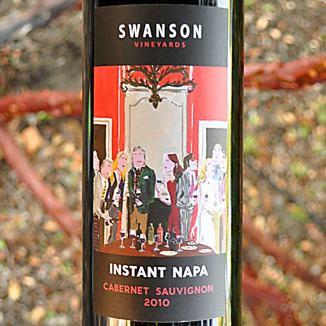 Swanson Vineyards 2010 Instant Napa Cabernet Sauvignon 750ml Wine Label