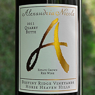 Alexandria Nicole Cellars 2011 Quarry Butte Red Blend 750ml Wine Label