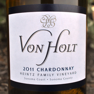 Von Holt Wines 2011 Heintz Vineyard Chardonnay 750ml Wine Label