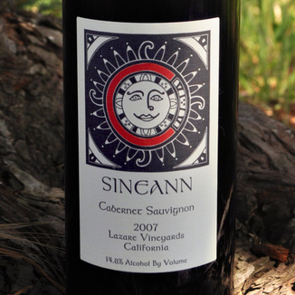Sineann Winery 2007 Lazare Vineyards Cabernet Sauvignon 750ml Wine Label