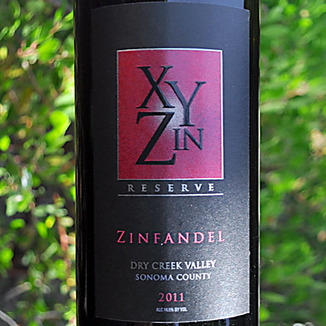 XYZin Wines 2011 Reserve Dry Creek Valley Zinfandel 750ml Wine Label