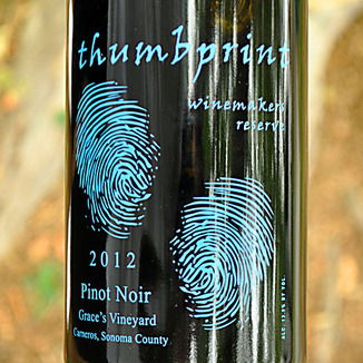 Thumbprint Cellars 2012 Winemaker's Reserve Pinot Noir 750ml Wine Label