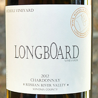 Longboard Vineyards 2012 Russian River Valley Chardonnay 750ml Wine Label