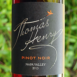 Thomas Henry 2013 Napa Valley Pinot Noir 750ml Wine Label