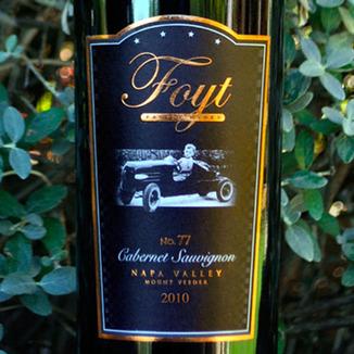 Foyt Family Wines 2010 No. 77 Mount Veeder Cabernet Sauvignon 750ml Wine Label