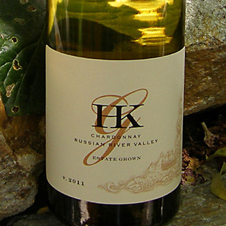 HKG Wines 2011 Russian River Valley Chardonnay 750ml Wine Label