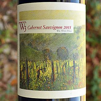 W3 - William White Wines 2011 Napa Valley Cabernet Sauvignon 750ml Wine Label