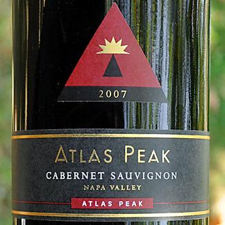 Atlas Peak Wines 2007 Atlas Peak Cabernet Sauvignon 750ml Wine Label