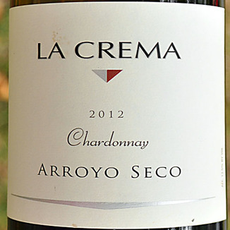 La Crema Winery 2012 Arroyo Seco Chardonnay 750ml Wine Label
