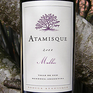 Bodega Atamisque 2011 Valle de Uco Malbec 750ml Wine Label