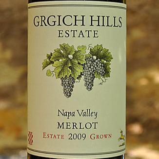 Grgich Hills Estate 2009 Napa Valley Merlot 750ml Wine Label