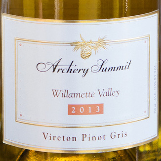 Archery Summit Winery 2013 Vireton Pinot Gris 750ml Wine Label