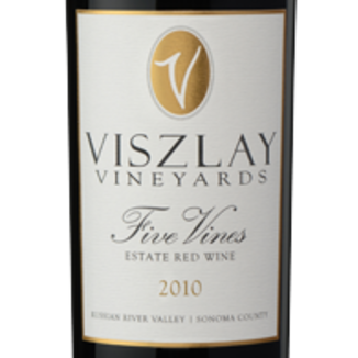 Viszlay Vineyards 2010 Five Vines 750ml Wine Label