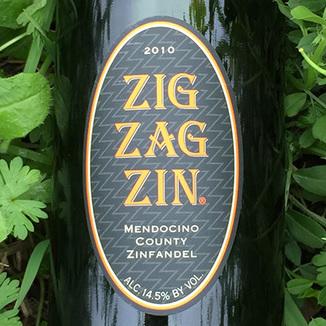 Mendocino Wine Company 2010 Zig Zag Zinfandel 750ml Wine Label