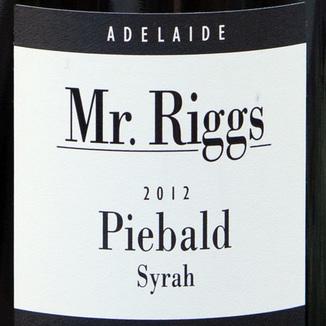 Mr. Riggs 2012 Mr. Riggs Syrah Piebald 750ml Wine Label