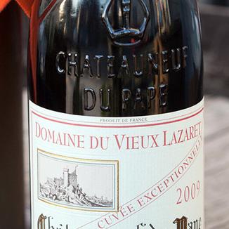 Domaine du Vieux Lazaret 2009 Châteauneuf-du-Pape Cuvee Exceptionnelle 750ml Wine Label