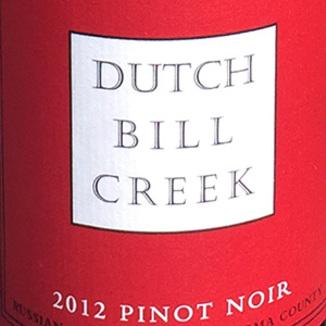 Dutch Bill Creek 2012 Pinot Noir Russian River Valley 750ml Wine Label