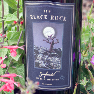 Cougar's Leap Winery 2010 Black Rock Red Hills Zinfandel 750ml Wine Label