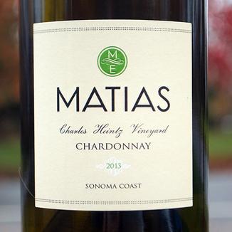 Matias 2013 Sonoma Coast Chardonnay 750ml Wine Label