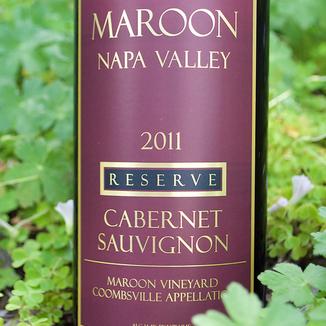 Maroon Wines 2011 Reserve Coombsville Cabernet Sauvignon 750ml Wine Label