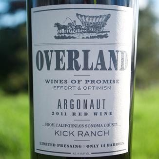 Overland 2011 Argonaut Red Wine 750ml Wine Label