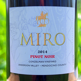 Miro Cellars 2014 Conzelman Vineyard Anderson Valley Pinot Noir 750ml Wine Label