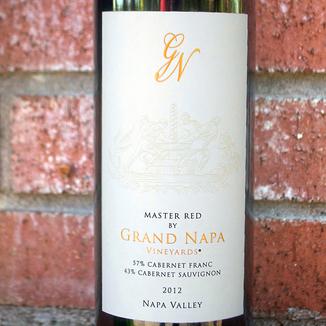 Grand Napa Wine 2012 Master Red 750ml Wine Label