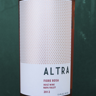 Altra Wines 2012 Fiore Rosa Napa Valley Rosé 750ml Wine Label