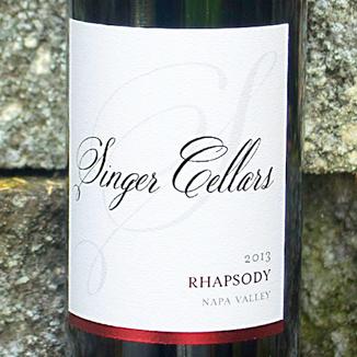 "Singer Cellars 2013 ""Rhapsody"" Napa Valley Red Wine 750ml Wine Bottle"