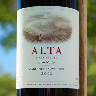 Alta 2012 Oso Malo Napa Valley Cabernet Sauvignon 750ml Wine Label