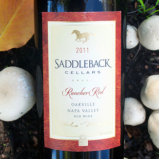 Saddleback Cellars 2011 Oakville Rancher Red 750ml Wine Label