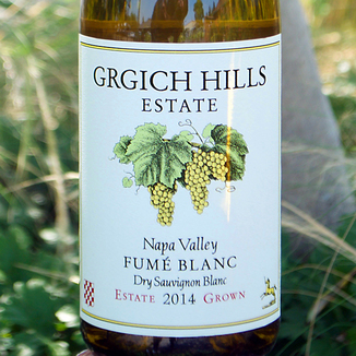 Grgich Hills Estate 2014 Napa Valley Estate Grown Fume' Blanc 750ml Wine Label