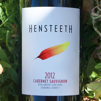 Hensteeth Winery 2012 Link Vineyard Knights Valley Cabernet Sauvignon 750ml Wine Label