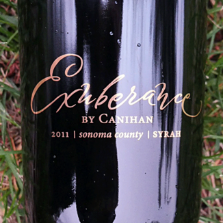 Canihan 2011 Exuberance Sonoma County Syrah 750ml Wine Bottle