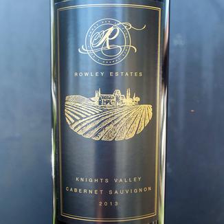 Rowley Estates 2013 Knights Valley Cabernet Sauvignon 750ml Wine Label