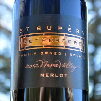 St. Supery 2012 Napa Valley Merlot 750ml Wine Label