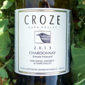 Croze 2013 Napa Valley Chardonnay 750ml Wine Bottle