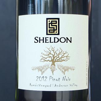 Sheldon Wines 2012 Roma's Vineyard Anderson Valley Pinot Noir 750ml Wine Label