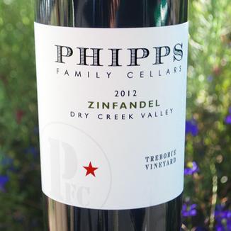 Phipps Family Cellars 2012 Treborce Vineyard Dry Creek Valley Zinfandel 750ml Wine Bottle