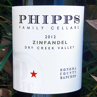 Phipps Family Cellars 2012 Sonoma County Ranches Zinfandel 750ml Wine Label