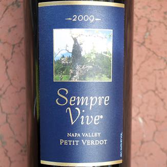 Romeo Vineyards 2009 Sempre Vive Petit Verdot 750ml Wine Bottle