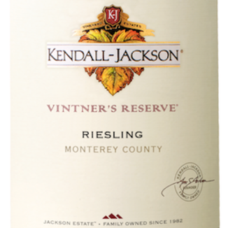 Kendall-Jackson 2015 Vintner's Reserve Riesling 750ml Wine Bottle